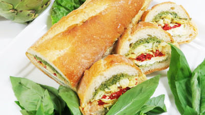 Antipasto Stuffed Baguette