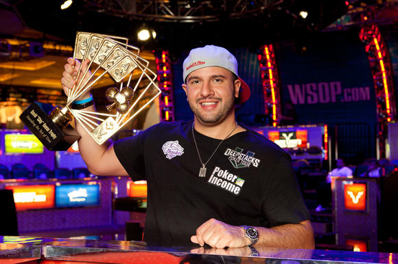 "Michael ""The Grinder"" Mizrachi took home $1.4 million Tuesday night."