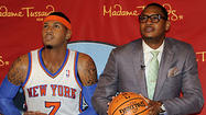 "Carmelo Anthony stood completely motionless for minutes on end on Tuesday while others circled around and looked on. <span class=""st"">Madame Tussauds</span> wax museum called it a prank."