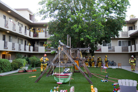 Fire at Caltech apartment
