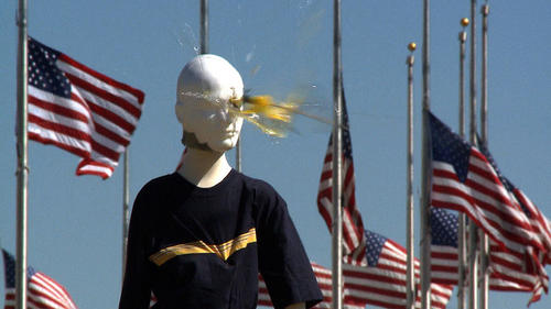 This demonstration shows what happens when an errant bottle rocket hits a boy in the eye. In 2011, there were about 300 emergency-room treated injuries associated with bottle rockets.
