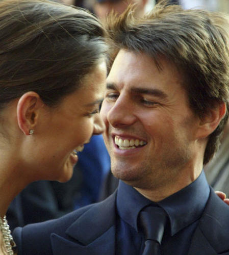 Tom and Katie made their first public appearance as a couple in Rome in April 2005.