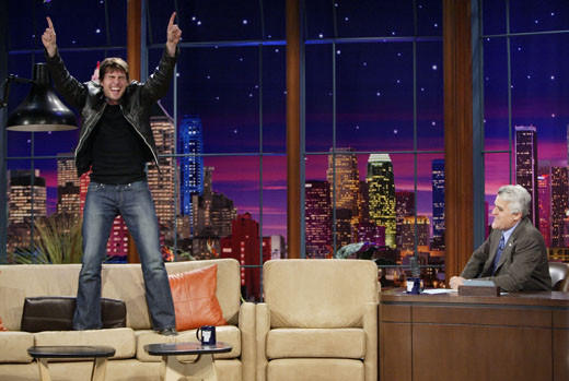 A couch-jumping demonstration for Jay Leno.