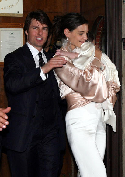 Tom Cruise and Katie Holmes divorce: A couple through the years: With baby Suri in Italy.