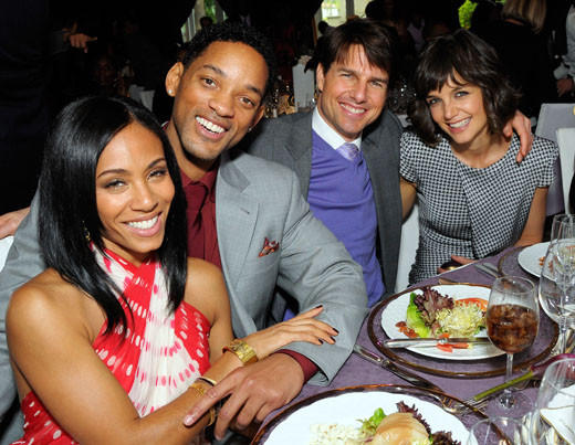 Tom Cruise and Katie Holmes divorce: A couple through the years: With BFFs Will and Jada Pinkett-Smith.