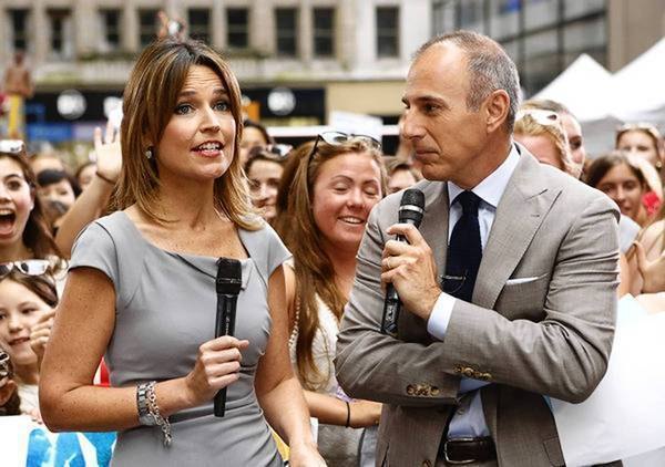 "Savannah Guthrie and Matt Lauer on NBC's ""Today"" show on Friday."