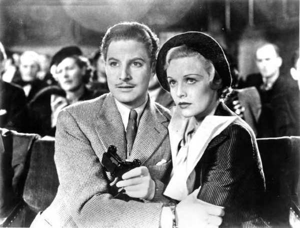 Robert Donat and Madeleine Carroll in Alfred Hitchcock's 'The 39 Steps,' newly reissued by Criterion.