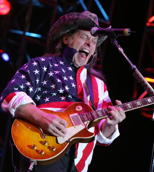 Red, White, Blue and Famous: Celebs in stars and stripes: Ted Nugent
