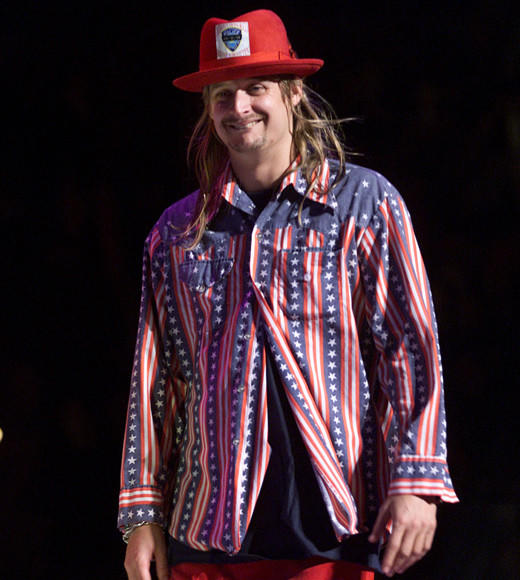 Red, White, Blue and Famous: Celebs in stars and stripes: Kid Rock