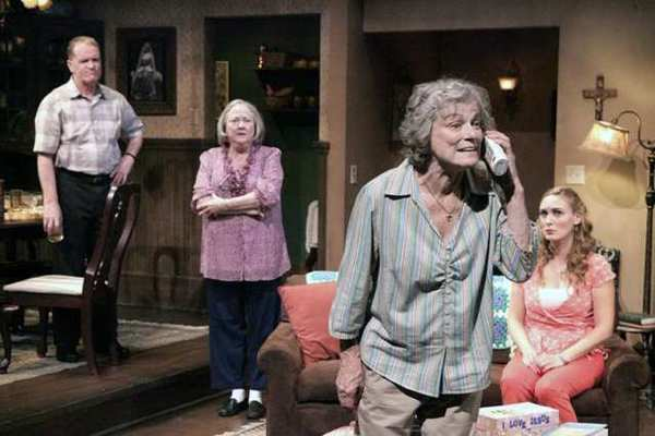 Rebecca Mozo, Anne Gee Byrd, Josh Clark and Bonnie Bailey-Reed star in 'The Savannah Disputation' at the Colony Theatre in Burbank.