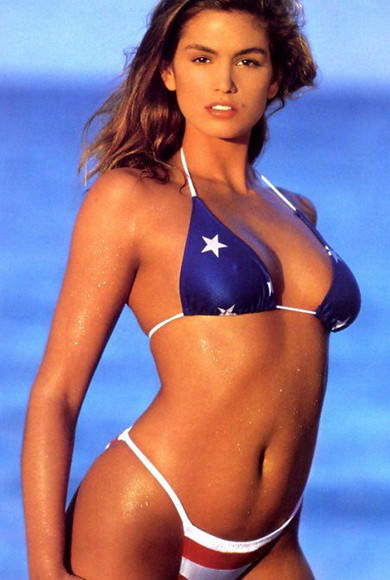 Red, White, Blue and Famous: Celebs in stars and stripes: Cindy Crawford