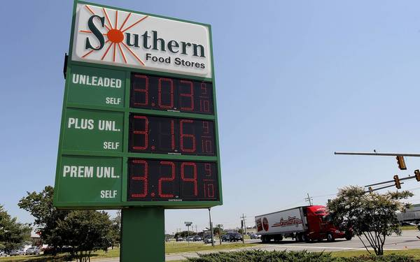 Regular gas neared the $3 mark at a Southern station in Smithfield this week.