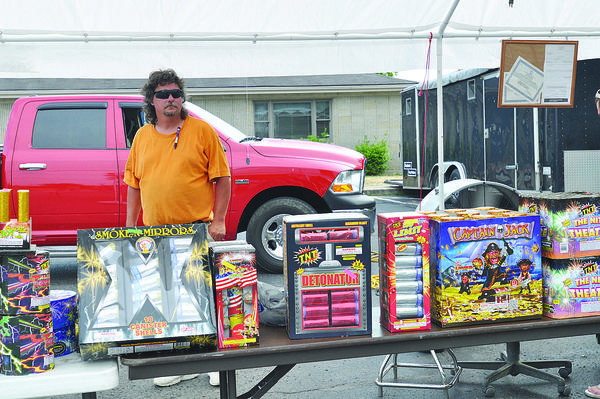 Roger Lyman, the owner of a fireworks stand set up at the corner of Lexington Avenue and Stamper Drive, has been selling fireworks in Winchester for the last few years. He said he sells out every year, and sales hadn't been affected by the order issued Friday morning banning the use of fireworks in Clark County.