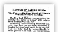 Story from the Chicago Tribune on July 7, 1862, of the Battle at Gaines' Mill, part of the Seven Days Battle