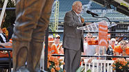 "Hall of Fame manager <a href=""/bal-earlweaver,0,1262021.storygallery"">Earl Weaver</a> took a long look at the larger-than-life bronze likeness of himself that was unveiled at Camden Yards on Saturday and expressed his heartfelt gratitude to the people who made it possible."