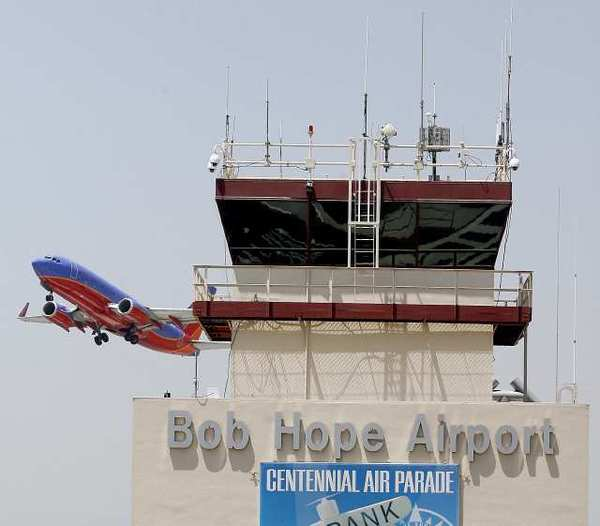 A Southwest Airlines airplane takes off at the Bob Hope Airport in Burbank. The airline scored well in on-time departures.