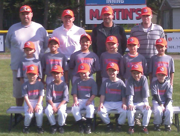Dunkin' Donuts won the Halfway Little League 6-8 division title this season. From left to right: Front row -- Michael Seibert, Ra Bukhari, John Hubbard, Jeffrey Gladhill, Aiden Straitiff and Aiden Hose. Middle row -- Noah Adams, Noah Millum, Nicholas Millum, Nick Betson, Noah Straitiff and Dakarai Betson. Back row -- coach Troy Straitiff, coach Shawn Adams, coach Ed Millum and manager Brad Hose.