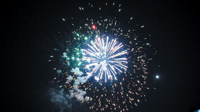 The sky over Somerset erupted Saturday night with fireworks from Little Big Shots.
