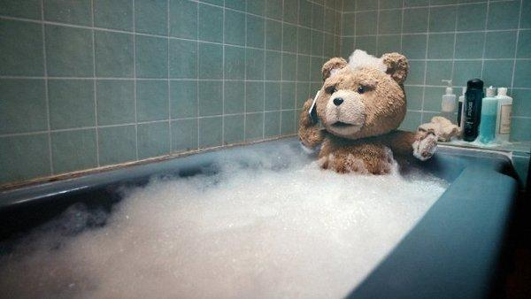 """Ted"" stars a potty-mouthed teddy bear voiced by Seth MacFarlane."