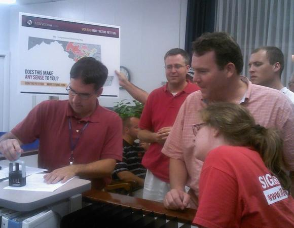Opponents to Congressional map file petitions.