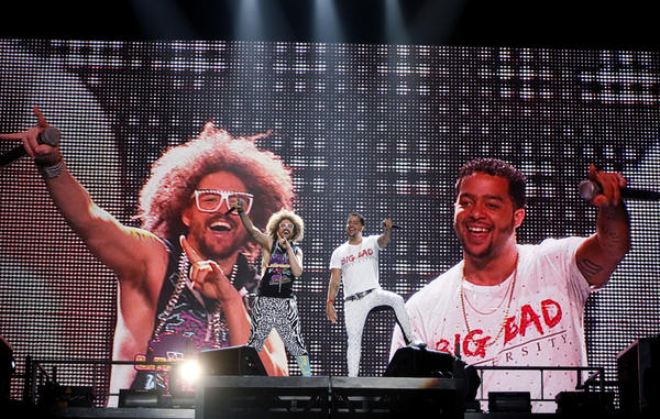 LMFAO performs at the Wells Fargo Center in Philadelphia on June 30.