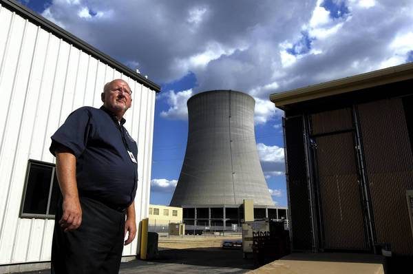 Chuck Casto visits Exelon Corp.'s nuclear power plant in Byron, Ill. Casto started in May as the new administrator for the Nuclear Regulatory Commission's Midwest region; his office in Lisle oversees 16 nuclear power plants in seven Midwestern states, including Illinois.