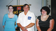 The Smithsburg Lions Club honored two 2012 graduates with scholarships May 23 at Mountain Gate Restaurant in Waynesboro, Pa.