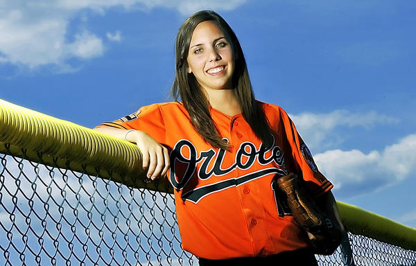 2009 Smithsburg High School graduate Emily Bolton is a ball girl for the Baltimore Orioles.