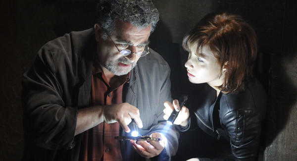 "Artie (Saul Rubinek) and Claudia (Allison Scagliotti) will have new mysteries to solve when ""Warehouse 13"" returns July 23."