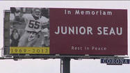 OCEANSIDE, Calif. - A billboard paying tribute to former San Diego Charger Junior Seau went up in Oceanside over the weekend.