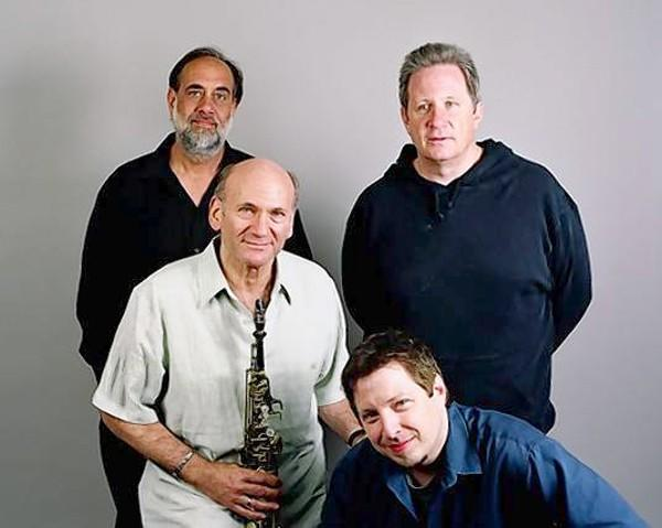 Sax player Dave Liebman and his band perform July 19 at Wesleyan. They are, from left, Tony Marino, Liebman, Marko Marcinko and Vic Juris.