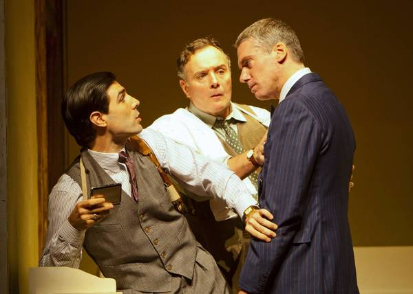 Pictured left to right: Louis Cancelmi, Sean Cullen, and Glenn Fitzgerald in a scene from 'The Importance of Being Earnest' at the Williamstown Theatre Festival through July 14.