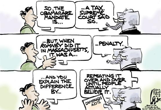 Obamacare vs. Romneycare...tax or penalty?