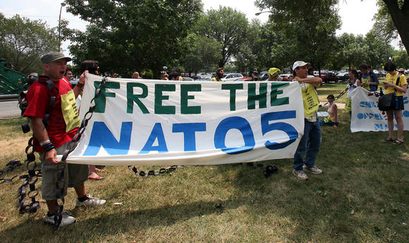 Occupy supports NATO 5