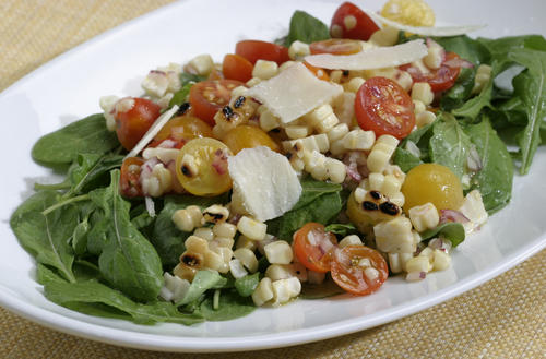 "<a href=""http://www.latimes.com/features/food/la-fo-grilled-corn-and-arugula-s,0,230339.story""><b>SUMMER ON A PLATE:</b> Grilled corn, tomato and arugula salad. Click here for the recipe.</a><br> <br> <b>RECENT & RELATED</b><br> <br> <a href=""http://www.latimes.com/features/food/la-fo-calcook9-2009sep09,0,718666.story"">The California Cook: 30 Days of Tomatoes</a><br> <br> <a href=""http://www.latimes.com/features/food/la-fo-seasonal-cooking-pg,0,5765260.photogallery"">Market Fresh: Your guide to the season's freshest produce -- recipes included</a><br> <br> <a href=""http://projects.latimes.com/farmers-markets/""><b>Interactive map:</b> Explore your local farmers market</a><br> <br> <a href=""http://www.latimes.com/features/food/la-fo-recipeindexarchive2008,0,5938840.storygallery"">More recipes from the L.A. Times Test Kitchen</a>"