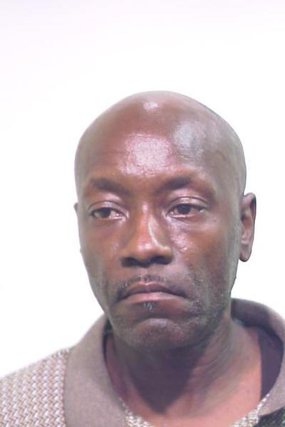 A police mugshot of Leon Swan, 52.