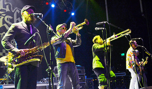 Reel Big Fish, a Huntington Beach ska band, performs at The Fox Theatre in Pomona on Dec. 22.