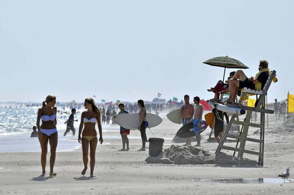 Long Island's Jones Beach State Park in Wantagh, N.Y., is one of the most popular beaches on the East Coast with more than 6 million visitors a year. The park offers 6.5 miles of frontage to the Atlantic Ocean.
