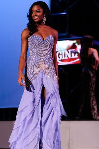 Desiree Williams, who represented the area as Miss Peninsula, was named 1st runner up during Saturda's finals.