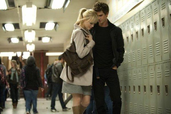 "Emma Stone and Andrew Garfield star in ""The Amazing Spider-Man."""