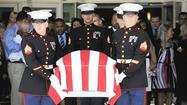 Hundreds attend service for fallen Laurel Marine