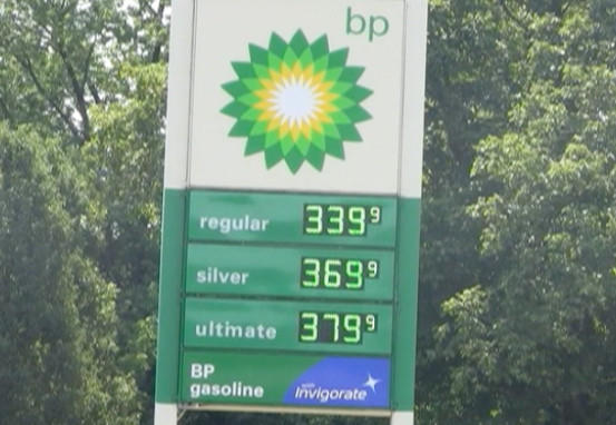 The BP Gas Station on Clear Spring Road in Clear Spring had the most expensive regular grade gas among the stations the Herald-Mail visited Tuesday.