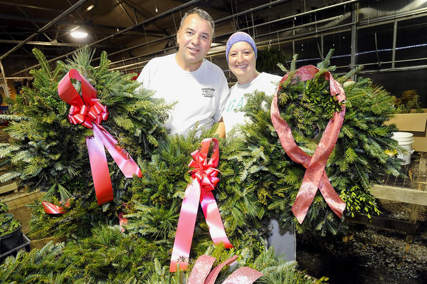 Chris and Selena Doyle, owners of Mountainside Gardens, are shown in this 2011 Herald-Mail file photo. The Boonsboro Town Council Monday night approved land-use changes for properties on Main Street that will allow for an expansion of the Doyles' plant nursery.