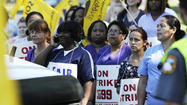 Health care workers strike.