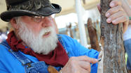 PICTURES: Woodcarver Bob Evans at Kutztown Folk Festival