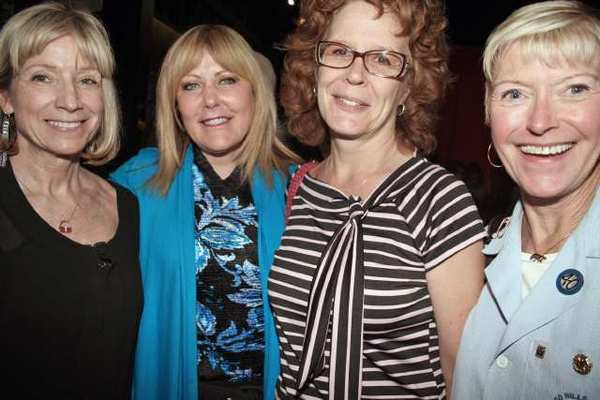 It was a bittersweet evening for Glendale Community College staff. From left: Jill Lewis, departing Supt./President Dawn Lindsay, Sally Holmes and Sue Wilder.