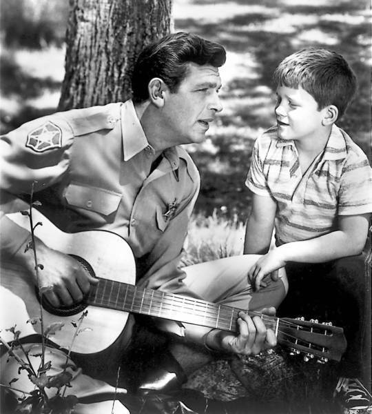 "Andy Griffith, left, and Ron Howard starred together on ""The Andy Griffith Show."""
