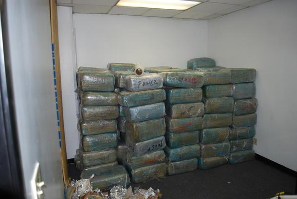 Glendale police uncovered $4.5 million in marijuana and methamphetamine last week in Los Angeles.