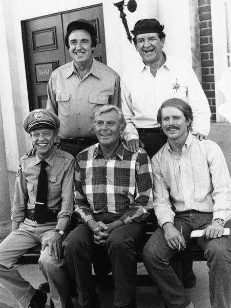In 1986, Andy Griffith, bottom center, and most of the major cast member