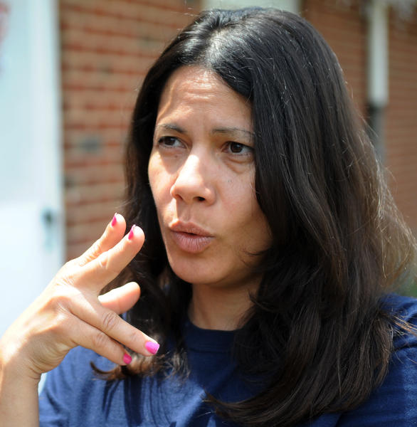 Non-smoker Ruth Munoz, of Allentown, talks about the smoking ban in public housing at the Little Lehigh development. The Allentown Housing authority has banned smoking in public housing. From now on residents have to go outside if they want a cigarette.